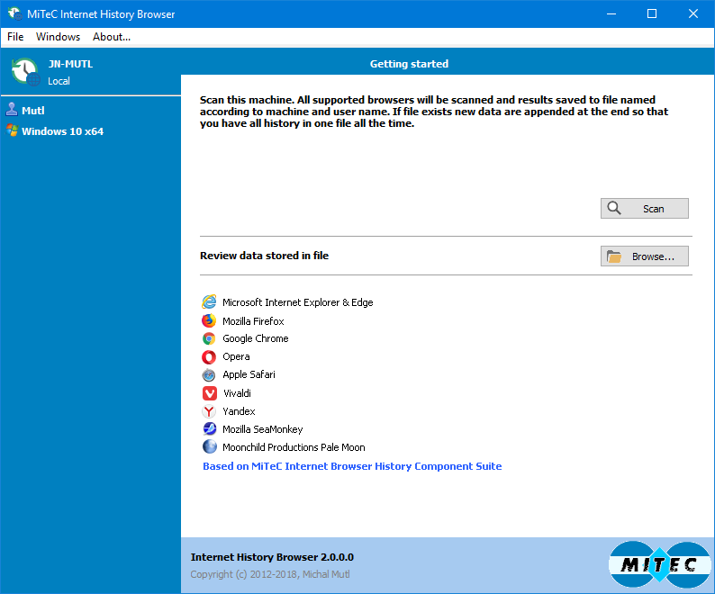 MiTeC Internet History Browser 2.1.0 full