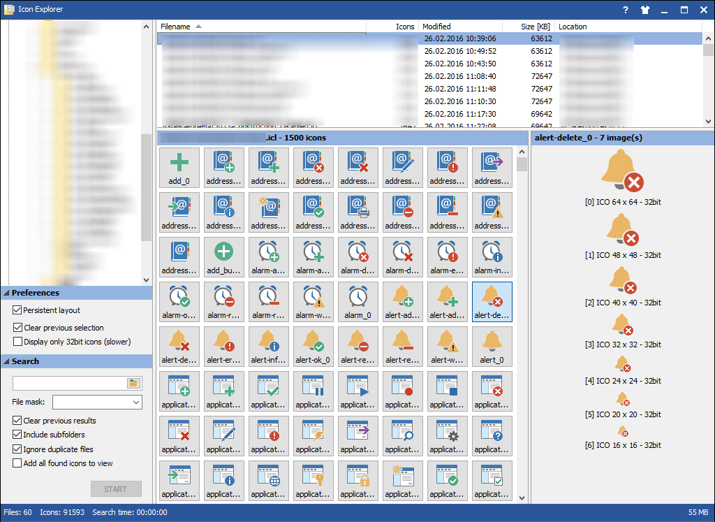 Icon Explorer full screenshot