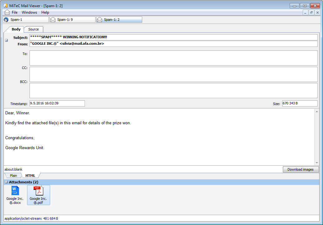 MiTeC Mail Viewer screenshot