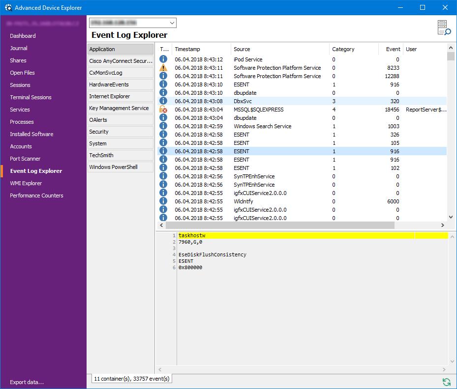 MiTeC Network Scanner screenshot