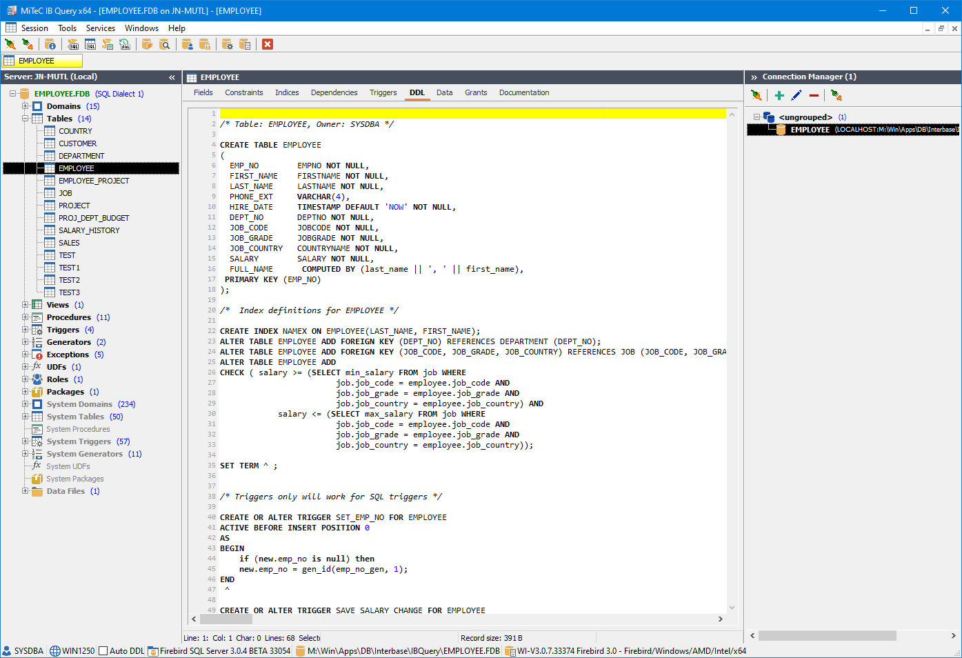 Interbase Query screenshot