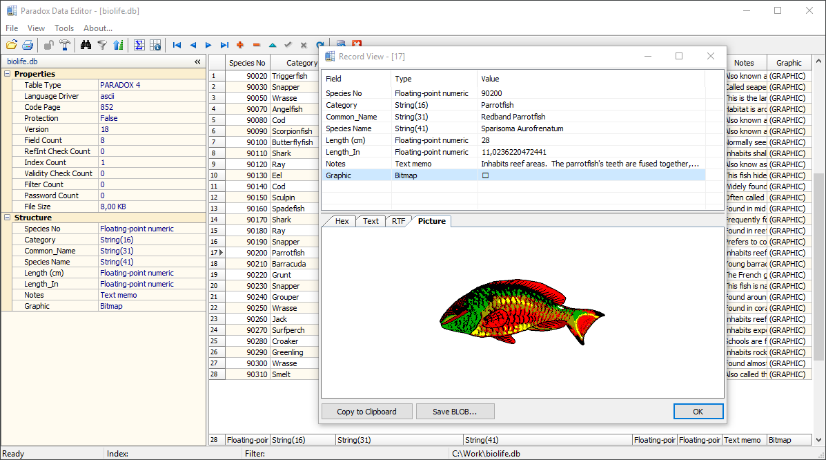 Full Paradox Data Editor screenshot