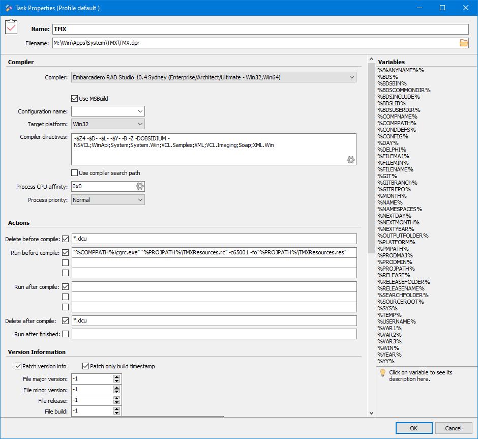 MiTeC Project Maker screenshot