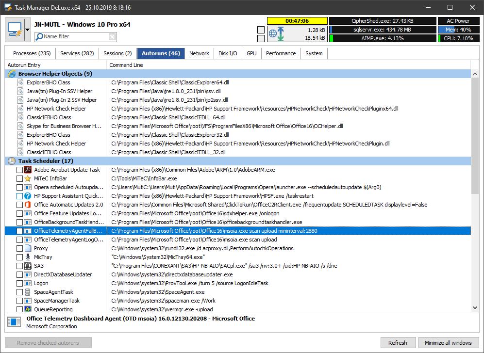 MiTeC Task Manager DeLuxe screenshot